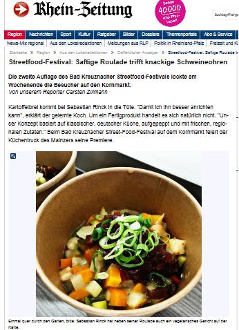 Rhein Zeitung - Streetfood-Festival - Saftige Roulade trifft knackige Schweineohren
